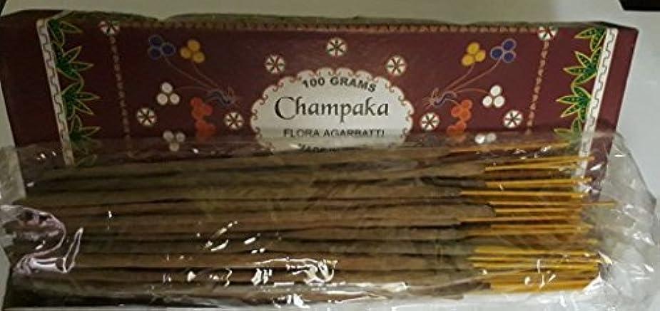 超えて分宿Champaka Agarbatti Incense Sticks 100グラムFlora Incense Agarbatti