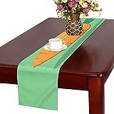 LKCDNG テーブルランナー 緑の地色 野菜 クロス 食卓カバー 麻綿製 欧米 おしゃれ 16 Inch X 72 Inch (40cm X 182cm) キッチン ダイニング ホーム デコレーション モダン リビング 洗える