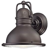 Westinghouse 6204600 Orson Energy Efficient LED Wall Lantern, Oil Rubbed Bronze [並行輸入品]
