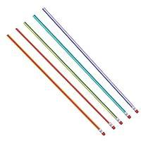 Akozon 鉛筆 5セット柔らかい鉛筆カラーベンディー曲げるアイデア鉛筆 消しゴム 文房具 絵画素材 おもちゃ学生子供のプレゼント 学生学校事務所用