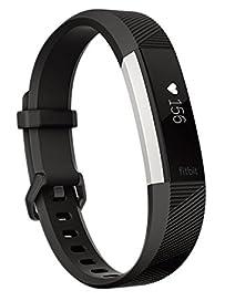【日本正規代理店品】Fitbit(フィットビット)心拍計+フィットネスリストバンド Alta HR Large Black FB408SBKL-CJK