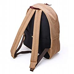Aging Canvas Triangle Daypack: Tan