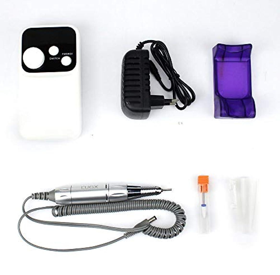 静かにばかげている書き出すネイルズのためにツールセットネイルアート用品の装飾を研磨携帯用電気マニキュアドリル充電ネイルドリルマシン、18W 35000RPM
