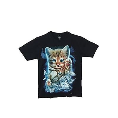 お金持ち猫シャツ かわいいプリントシャツ