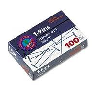 Advantus ® t-pinsクリップ、t-pin、1.5インチ、100/ボックスr330–12sscy (パックof30)