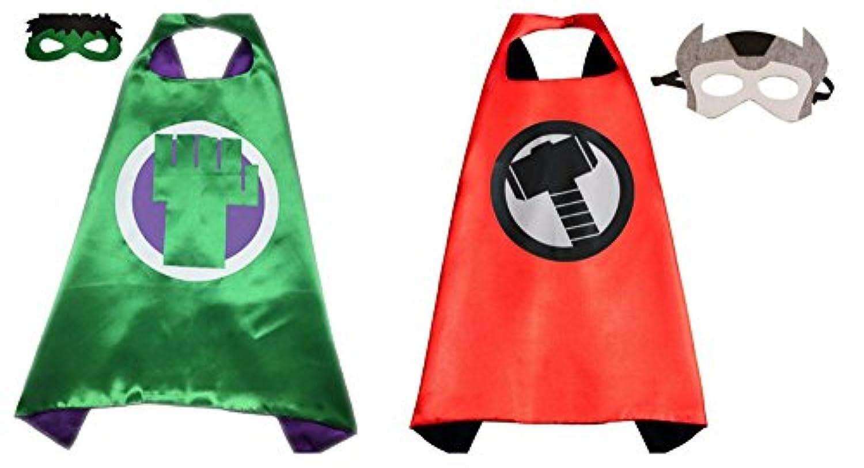 Hulk & Thorコスチュームケープ – 2種、2マスクwithギフトボックスbyスーパーヒーロー