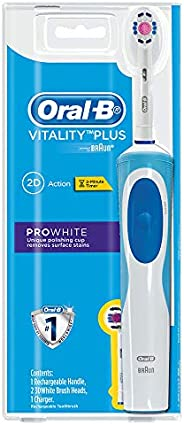 Oral-B Vitality Power Brush ProWhite (2up) Rechargeable Electric Toothbrush (powered by Braun), 0.26 kilograms