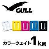 ダイビング ウエイト GULL ガル カラー ウェイト 1kg KA-9090 軽器材 サックス