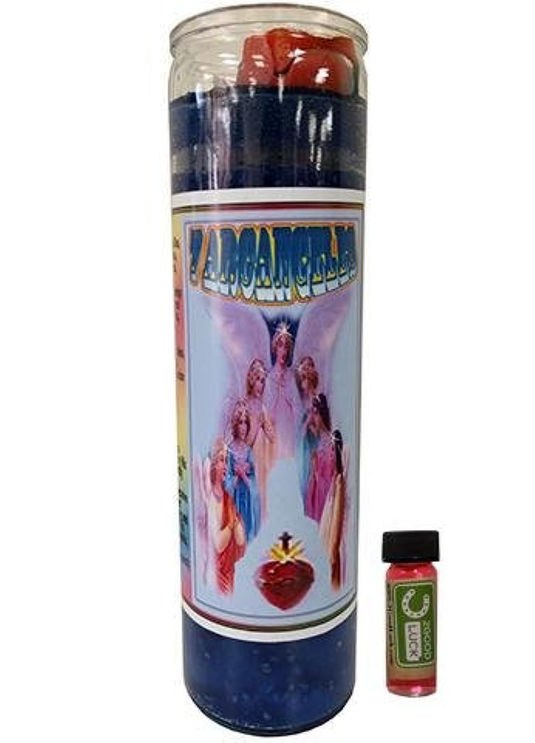 オデュッセウス乱雑なホステル7大天使Dressed Scented Candle – Veladora Preparada 7 Arcangeles