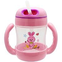Fenteer 全3色 ベビーマグ ボトル ベビー食器 容易な - スタイル1 - ピンク