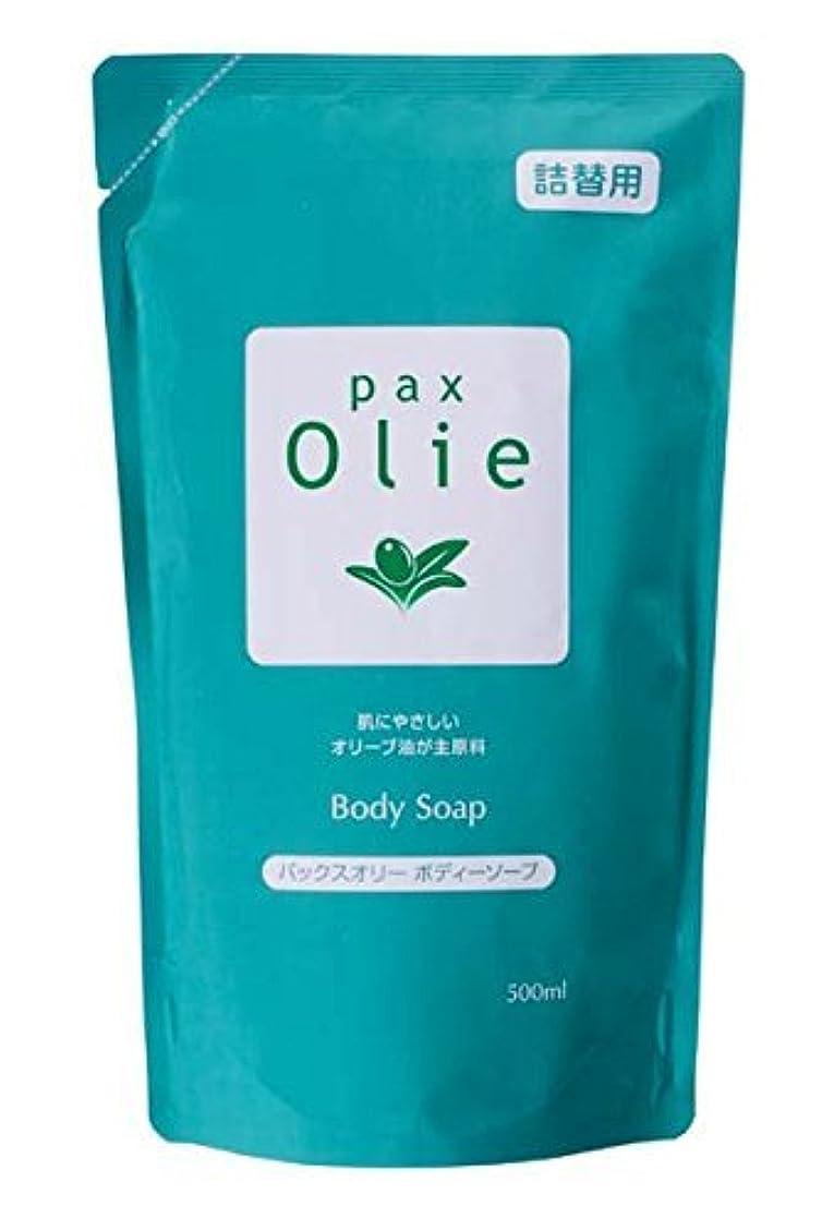 太陽油脂 パックスオリー ボディーソープ 詰替用 500ml ×12個セット わらかなフローラル&ハーバルの香り