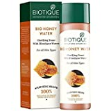 Biotique Bio Honey Water Clarifying Toner, 120ml Brings skin perfect pH balance Biotiqueバイオハニーウォータークラリファニングトナー...