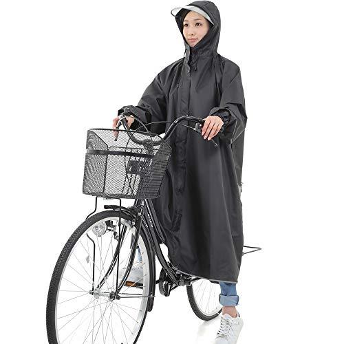 【DENGDING】軽量 レインコート 自転車用 ロング 袖...