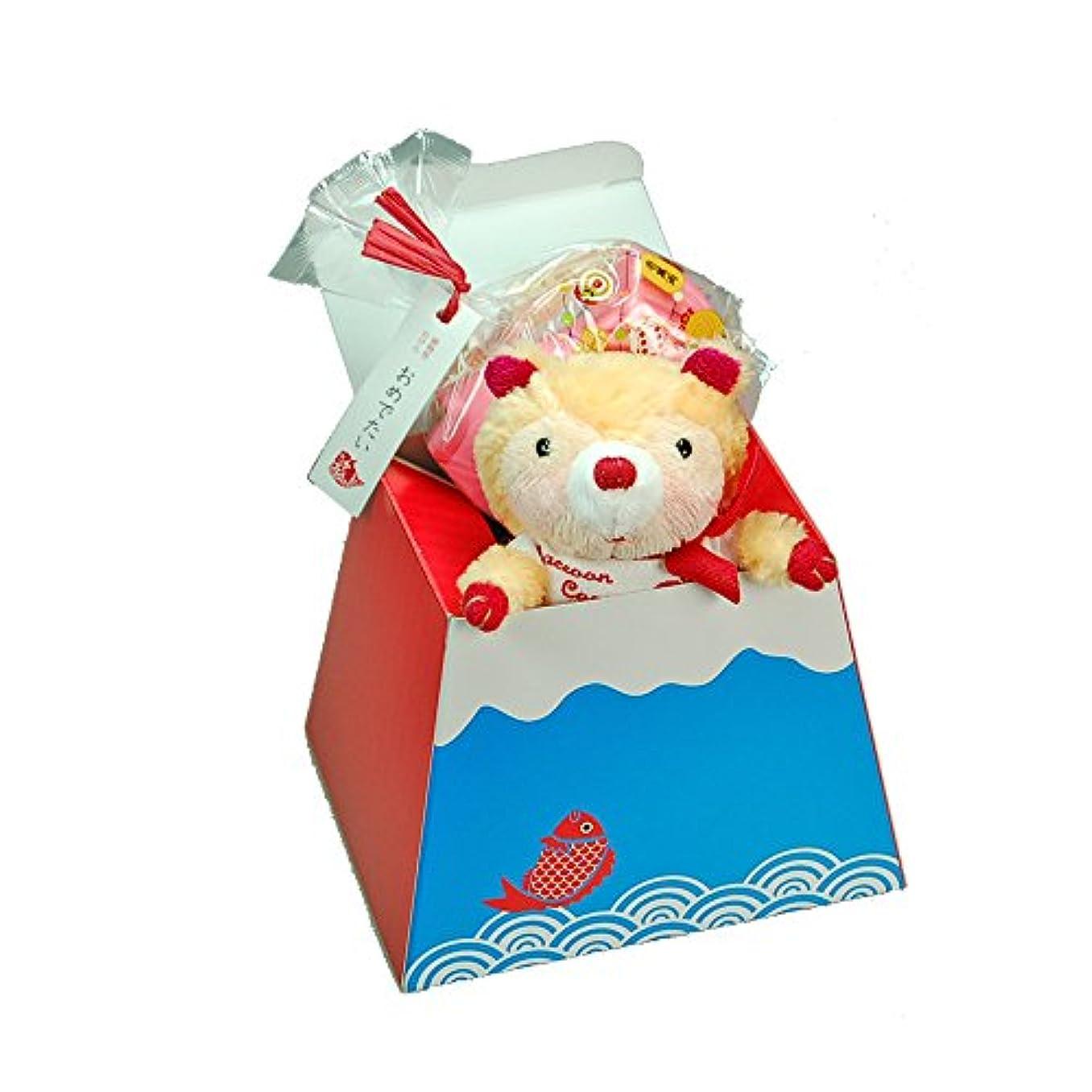 安定した中級地上のプチギフト リトルマスコット 鯛 石けん 富士山ラッピング付き 誕生日プレゼント お祝い 入学 卒業  (リトルセット)
