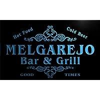 u30120-b Melgarejoファミリ名バー&グリルHome Brew Beer Neon Sign
