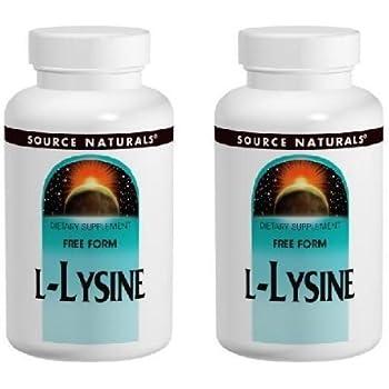 【2個セット】 [海外直送品] Source Naturals L-リジン 1000mg 100タブレット フリーフォームアミノ酸