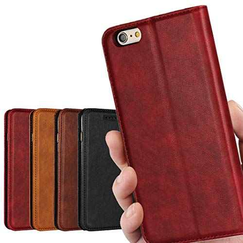 iphone6 plus と iphone6s plus 兼用 手帳型 iphone6 plus ケース iPhone6plus / 6s plu ケース アイフォン6 プラス アイフォン6s プラス ケース iphone6s plus case iphone6s plus ケース アップル_iCoverCase_ 内蔵マグネット 高質PUレザー スタンド機能 落ち着いた色 レッド