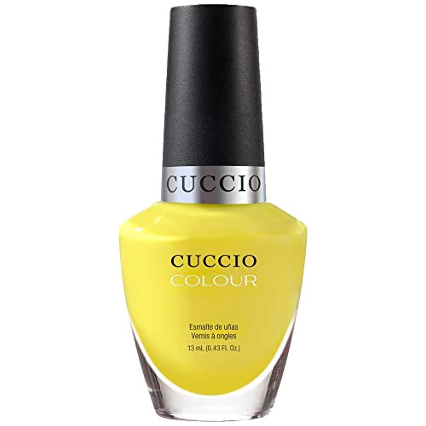 爆発シガレット協力Cuccio Colour Gloss Lacquer - Lemon Drop Me A Line - 0.43oz / 13ml