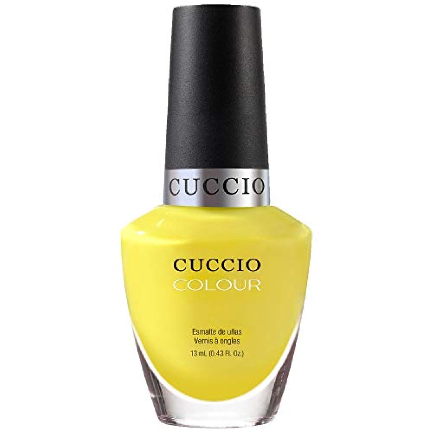旋回モッキンバード適切にCuccio Colour Gloss Lacquer - Lemon Drop Me A Line - 0.43oz / 13ml