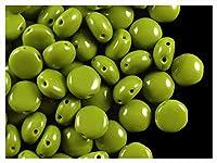30stkプレシオサキャンディ™ビーズ - チェコガラスビーズは不透明オリビン(53420)を8mmの押し(30stk PRECIOSA Candy ™ Beads - Czech pressed glass beads 8mm Opaque Olivine (53420))