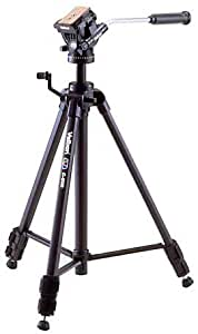 Velbon ビデオ用三脚 レバー式 C-500 3段 中型 ビデオ雲台クイックシュー付き アルミ製 403308