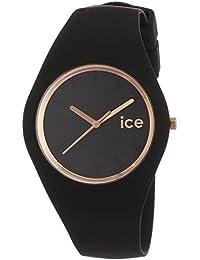 [アイスウォッチ]ICE WATCH 腕時計 ウォッチ ice glam 34mm ブラック×ローズゴールド シリコンラバーベルト 10気圧防水 レディース [並行輸入品]