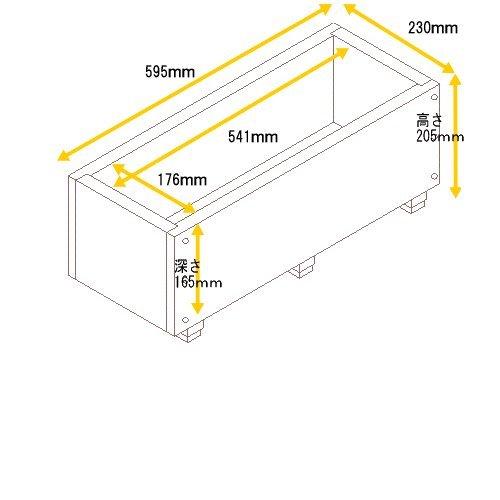 スクエアプランター 長方形 幅595mm×奥行230mm×高さ205mm DB(ダークブラウン)色