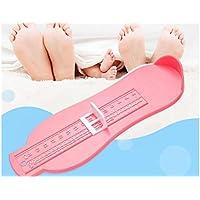 FenBuGu-JP 興味深い ベビーフィートルーラー便利な測定ツール伸縮板付きプラスチックルーラー(ピンク)