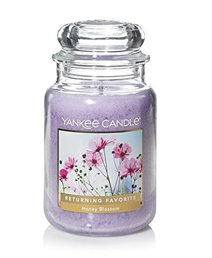 阻害するピアノを弾くラップYankeeキャンドルHoney Blossom Large Jar Candle、花柄香り
