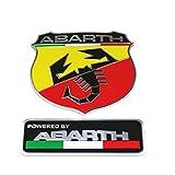 ABARTH メタル エンブレム 2種セット アバルト 500 595 124 spider [並行輸入品]