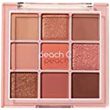 Peach C Soft Mood Eyeshadow Palette -SOFT CORAL告発色、高密着、告知の中独歩的な高クオリティアイシャドウパレット9color(並行輸入品)