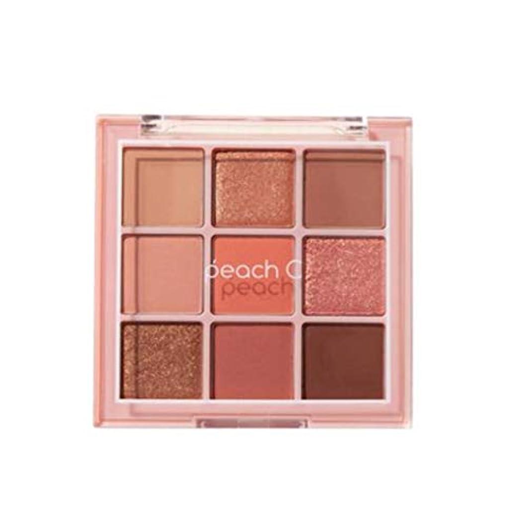 ファンタジーいつかラベPeach C Soft Mood Eyeshadow Palette -SOFT CORAL告発色、高密着、告知の中独歩的な高クオリティアイシャドウパレット9color(並行輸入品)