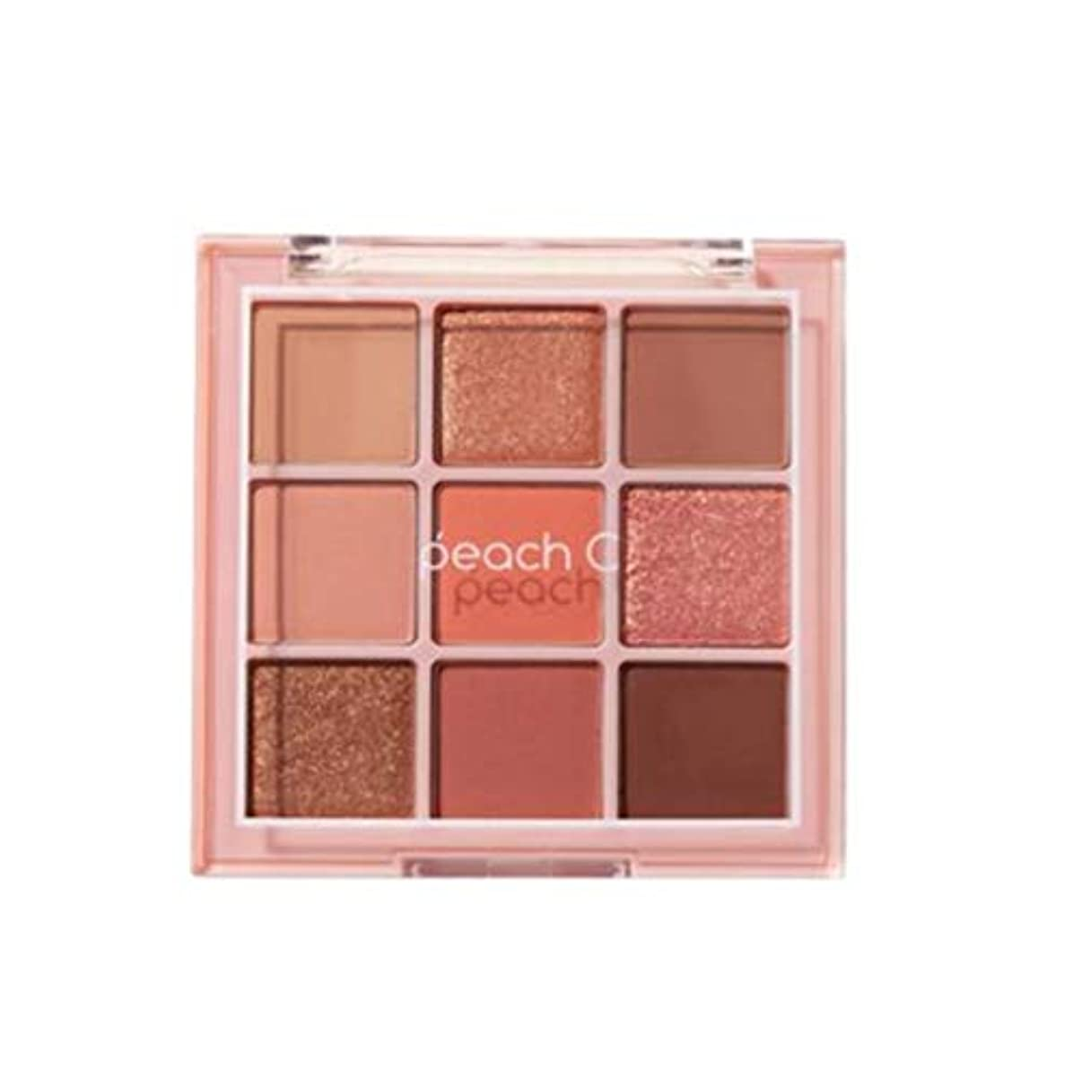 寝室欠席シニスPeach C Soft Mood Eyeshadow Palette -SOFT CORAL告発色、高密着、告知の中独歩的な高クオリティアイシャドウパレット9color(並行輸入品)