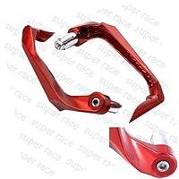 "FidgetGear CNC 3D Lever Guard Protector 22mm 7/8"" Bar End Brake Clutch For Yamaha YZF R1 R6 Red"