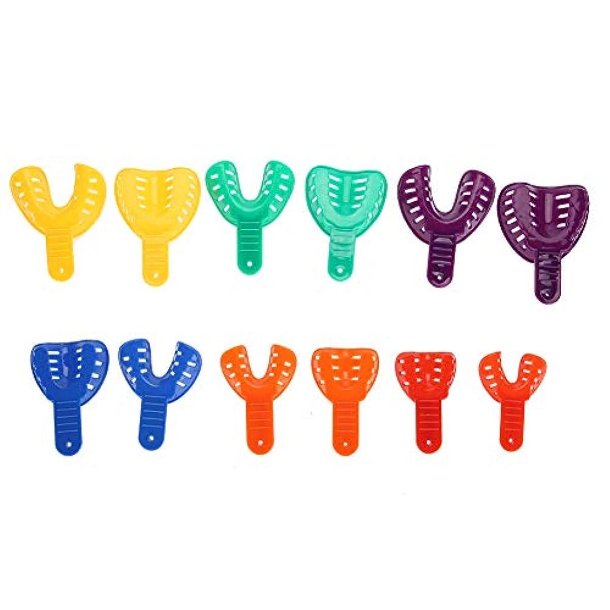 九月絡まるこんにちは歯のブレース 歯科プラスチック 歯のサポート 歯科トレイ 12本/セット 偽の歯カバー 安全で実用