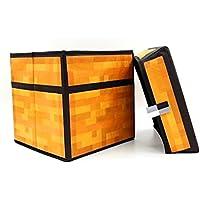 マインクラフト(MINECRAFT) 30×30×30 フタ付 収納 ボックス 頑丈4mm厚 おもちゃ ストレージ おかたずけ箱 スツール【全3種:スツール、TNT、草ブロック】 (スツール)