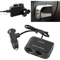 車載用PDA電源2個USBポート&2ソケットスプリッタ12V / 24V車用充電器