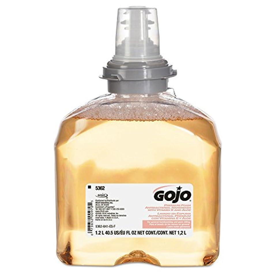 問題破壊する全滅させるGOJO 5362 – 02プレミアムフォーム抗菌手洗い、1200 ml ( Pack of 2 )