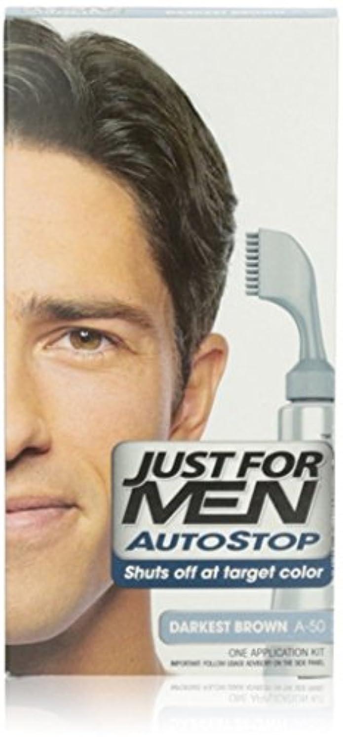 編集する前売しなやかなJust for Men AUTOSTOPヘアカラー、暗黒ブラウンA-50 1をEA(4パック) 4パック