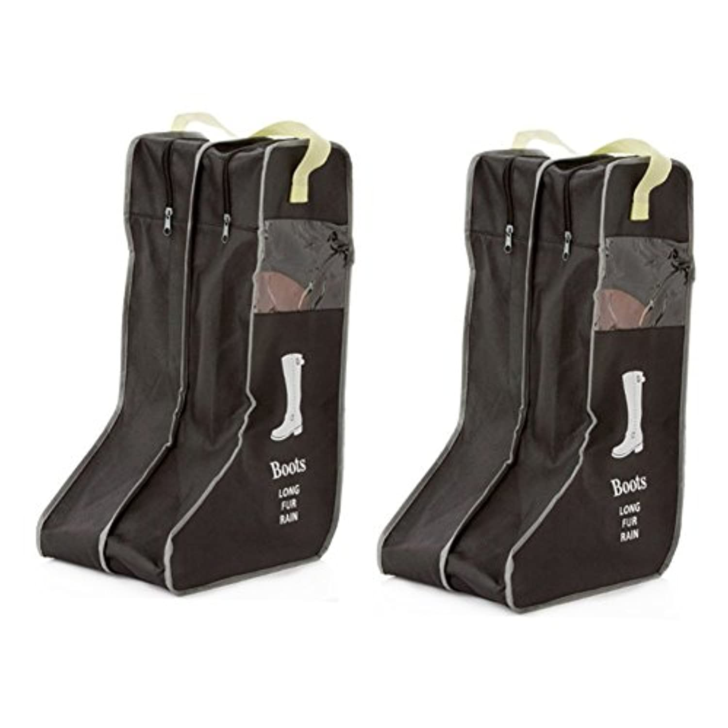Nizzco Portable 2 Packs,Tall Boots Storage/Protector Bag,Boots Cover(Black)