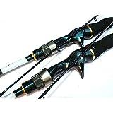 高強度ルアーロッドスピニング釣り竿 キャスティング釣り竿超硬質超軽量釣り竿