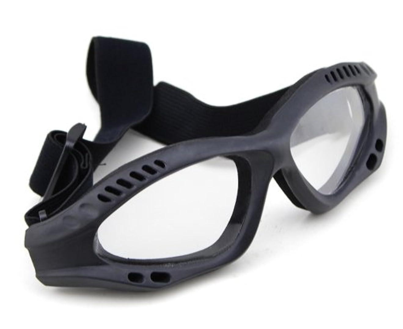 自分の変数同封するWoSporT タクティカルゴーグル レンズモデル BK