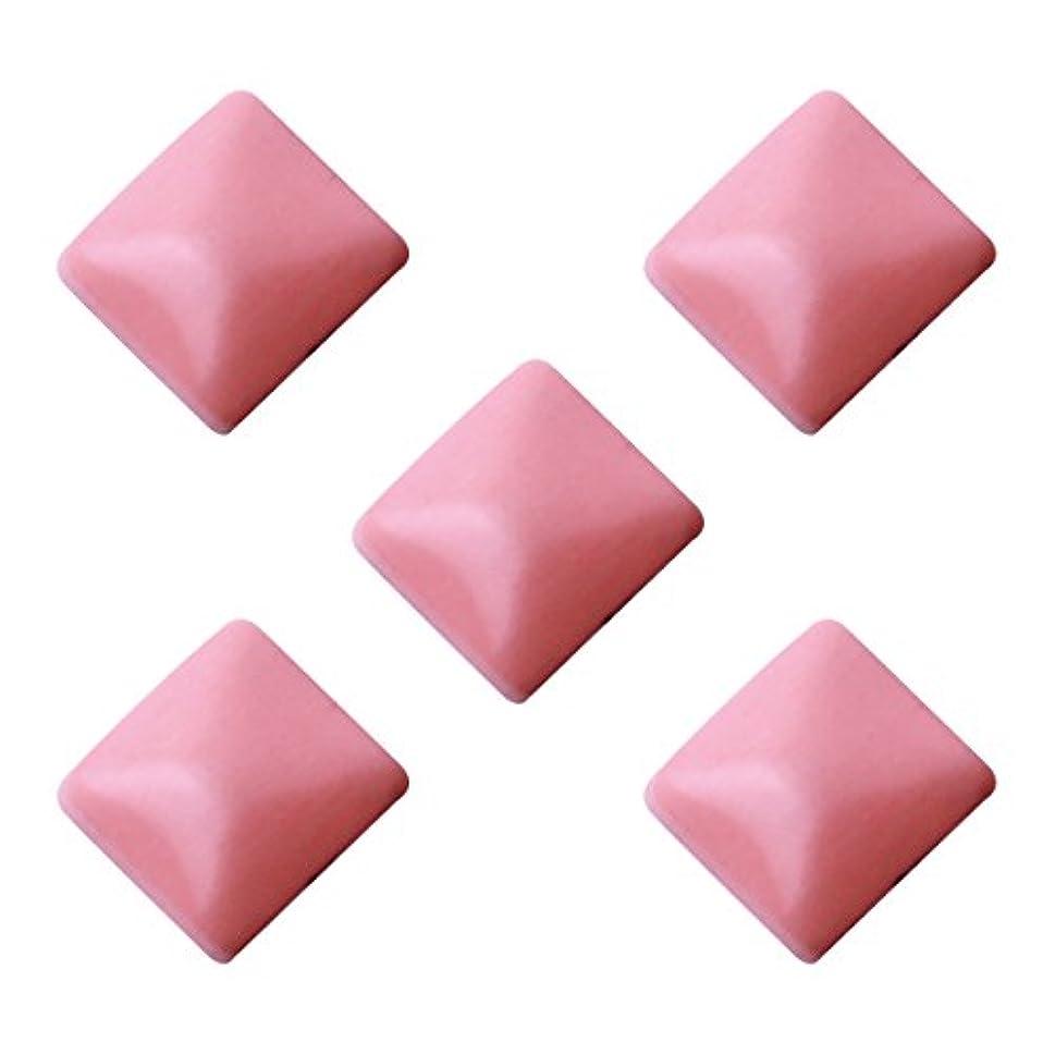 土中央値赤ちゃんパステルスタッズ スクエア 2×2mm(100個入り) ピンク