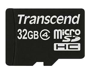 Transcend microSDHCカード 32GB Class4 変換アダプタ無し (無期限保証) TS32GUSDC4