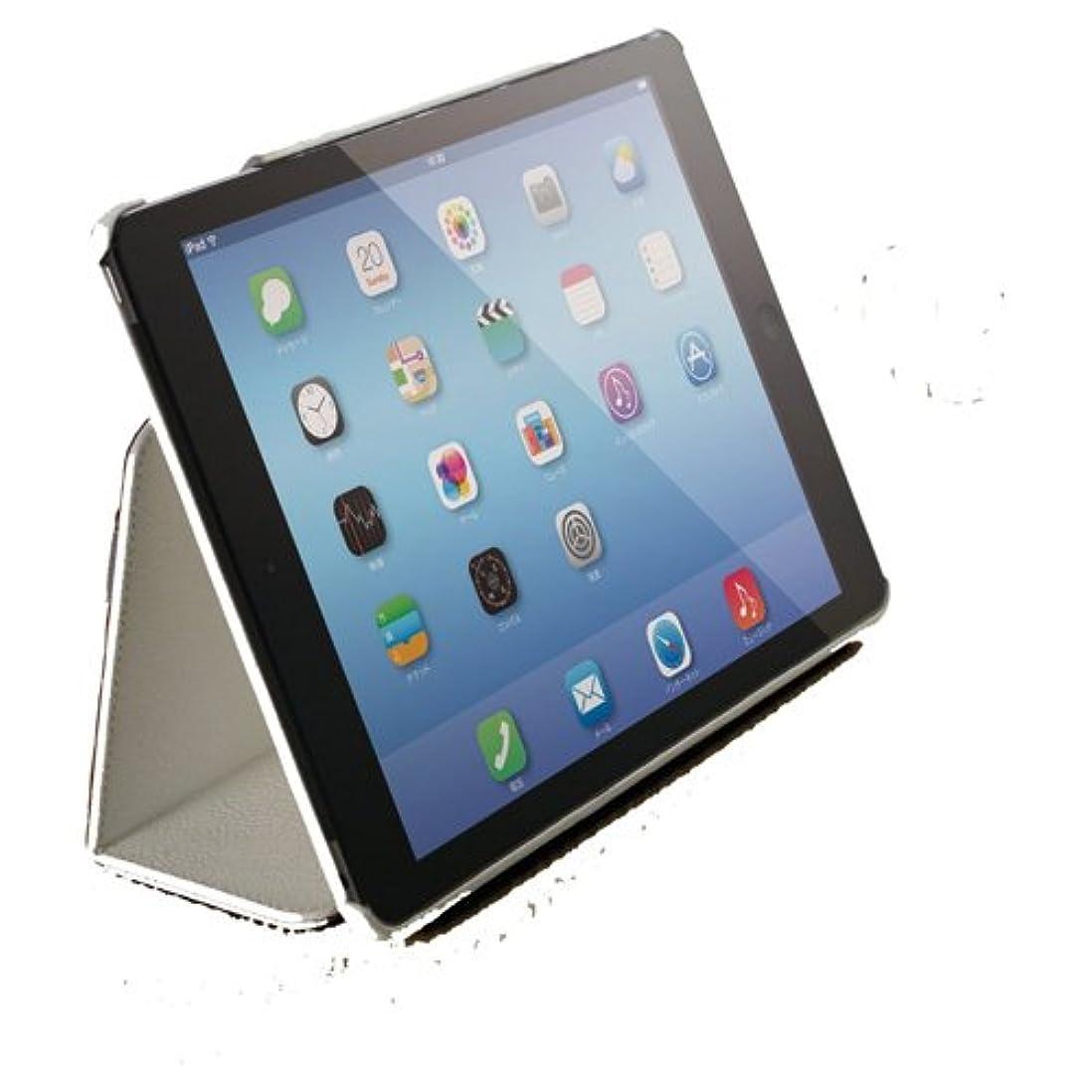 地雷原全国自信がある【2014年モデル】ELECOM iPad Air 2 ソフトレザーカバー 2アングルスタンドタイプ ハンドホールドベルト付き ホワイト TB-A14PLF1WH