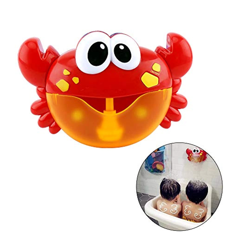 Kungfu Mall バブルマシーン シャボン玉 玉製造機 カニ動物 水遊び かわいい お風呂おもちゃ 子供 泡おもちゃ バブルメーカー 電動式