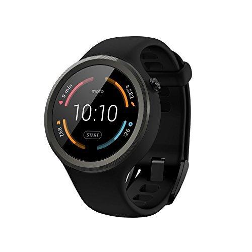 【第2世代】Moto 360 2nd Gen 2015 Smart Watch スマートウォッチ 腕時計 Android Wear iOS対応 (Moto 360 Sport ブラック) [並行輸入品]