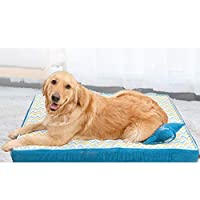 [ENDURING]:ペットベッド ペットソファ 洗える 通気性が良い 柔らかい 暖かい 四季のユニバーサルソファベッド ストライプ スクエア型 キャンバス 猫用ベッド 犬用ベッド ペット用品 ブルー XL