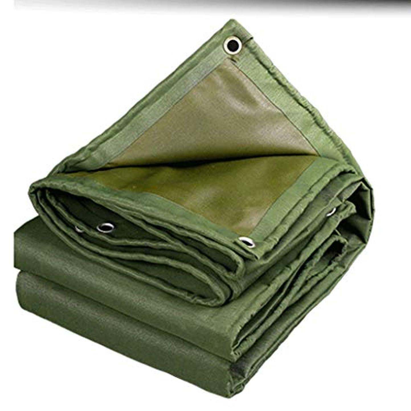 蓮失う助けになるトラックカバーキャンバスカバーカスタム防水布日焼け止め防水シートシェード雨オイルオックスフォードキャノピー布断熱材 (Color : Green, Size : 3x3m)