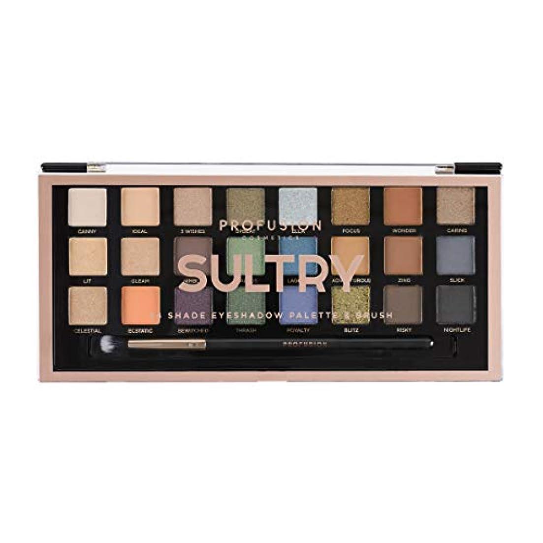 委任郵便局見えないPROFUSION Sultry 24 Shade Eyeshadow Palette & Brush (並行輸入品)